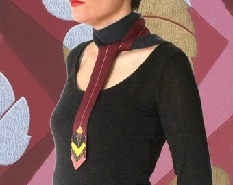 Scarf-tie GATSBY - burgundy