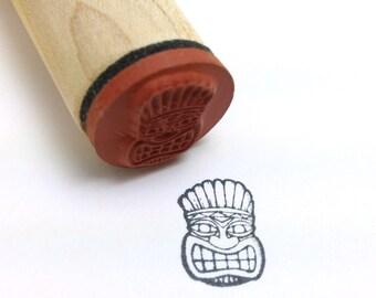 Tiki Rubber Stamp - Polynesian, Hawaiian, Tribal, Mask, Luau