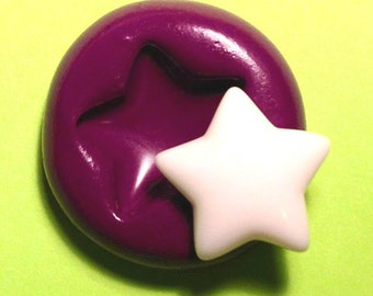 Star Silicone Mold 18mm Flexible Mold - Polymer Clay Resin Cupcake Chocolate Fondant Soap