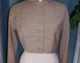 SALE 1950 Beige Short  Jacket-SzM