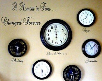 A Moment In Time... Changed Forever Vinyl Decals