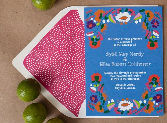 mexican themed wedding invitations for your destination