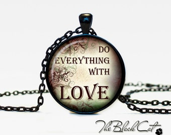 Christian Quotes pendant Inspirational necklace Sayings jewelry Quotes Phrases Christian (PQ0007)