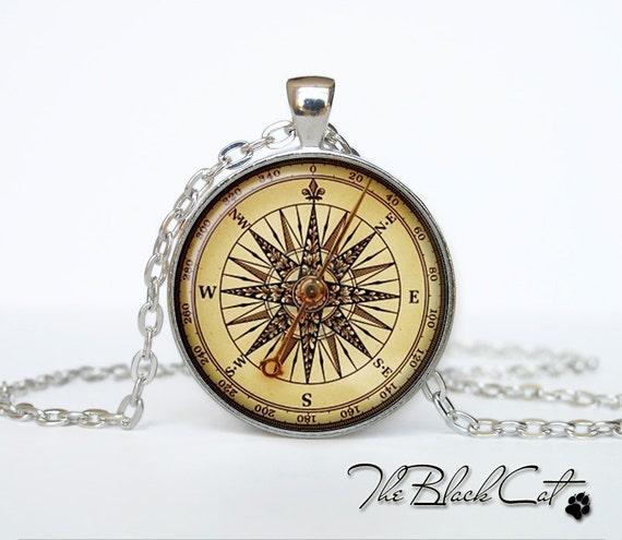 Vintage Compass pendant Vintage Compass jewelry Vintage