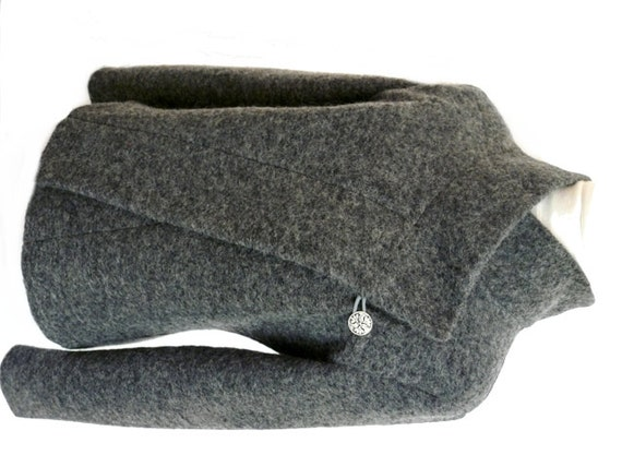Boiled wool coats for women