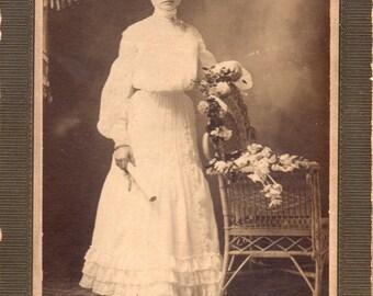 Antique photo of lady graduate
