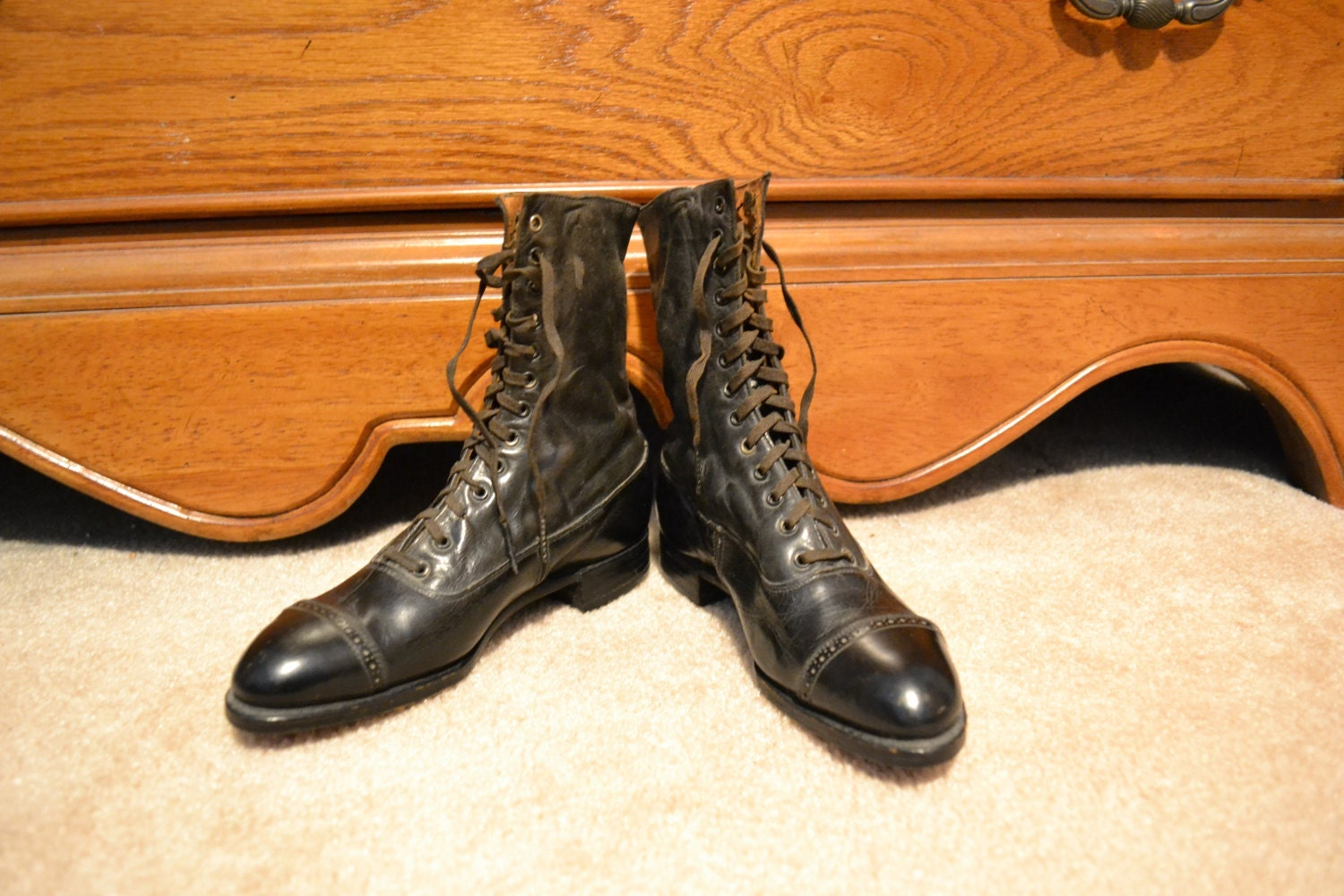 items similar to clearance antique buster brown shoes on etsy