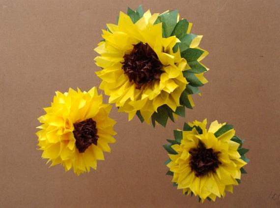 Diy Tissue Paper Sunflowers Tissue Paper Sunflowers A Fun Fall Diy