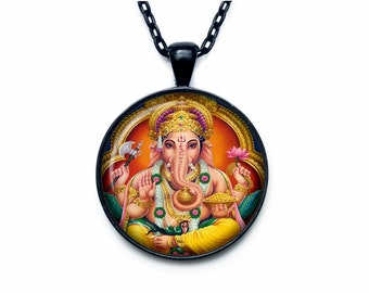Ganesh pendant ganesh  necklace ganesh sign  jewelry