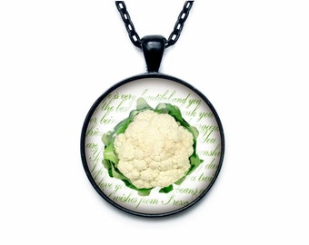 Cauliflower necklace Cauliflower necklace pendant Cauliflower jewelry fruit necklace