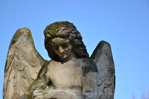 Weathered Angel - Graveyard Collection - Digital Image File Photo Download
