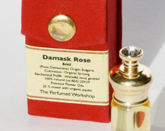 Damask Rose Precious Flower Oil - 6ml Single Note Perfume