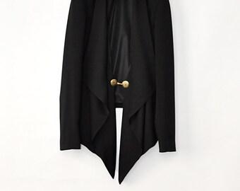 Black  Jacket, Loose jacket, Elegant jacket