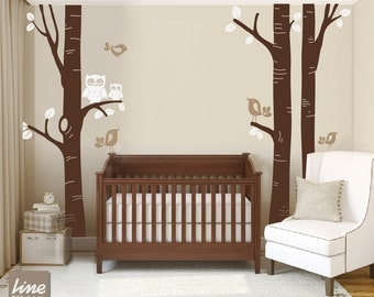 BIRCH TREE DECAL Nursery -Children Wall Decal Wall Sticker Nursery decal