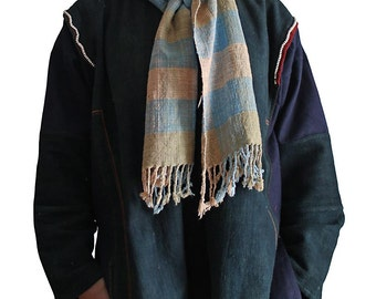 Natural Dye Handwoven Organic Cotton Stole (TX-075-01)