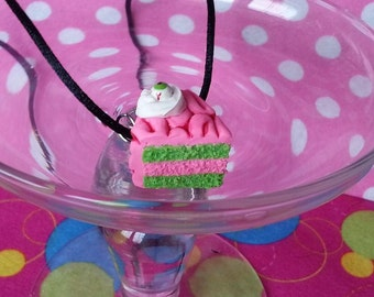 Zombie Brain Cake Pendant (MADE TO ORDER)