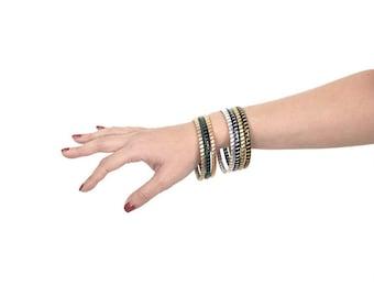 Stacking bangles, Boho bracelet, Stackable Bangles, Personalized bangle, Gift for her, Colored bracelet, Custom bracelet, Unique bracelet.