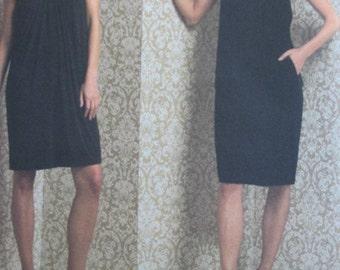 Vogue DKNY Dress Pattern, Vogue 1012 Size 6-12, Sleeveless A-line Dress