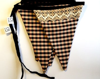 "COUNTRY BUNTING ""Mocador de fer farcells""  traditional catalan fabric"
