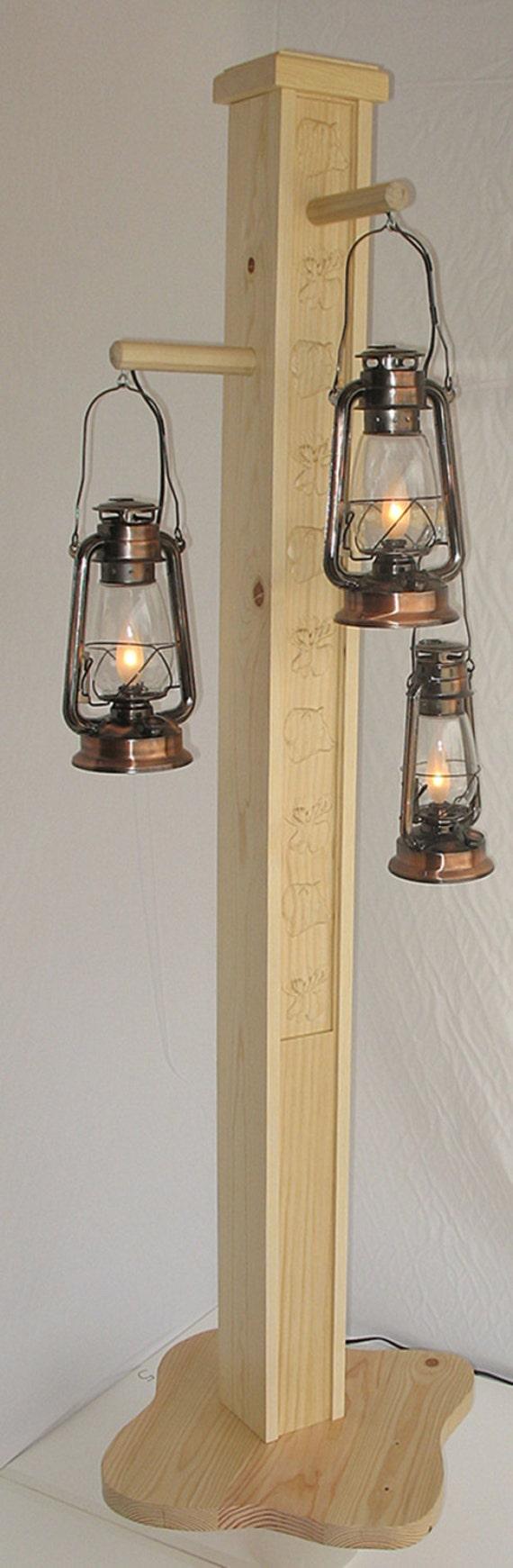 Rustic Floor Lamp With Old Fashioned Electrified By