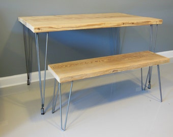 Modern Dining Table, Reclaimed Wood with Hairpin Legs, Reclaimed Wood Furniture