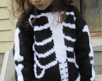 Dem Bones Sweater Knitting Pattern PDF