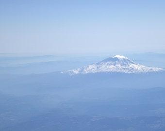 Mount Ranier From the Air - Seattle, WA 8 x 10 Fine Art Photography Print, Washington, Mountains