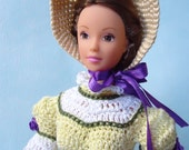 """Catherine Morland's riding dress to Northanger Abbey for 11 1/2"""" fashion doll"""