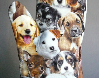 Oven Mitt - Puppies