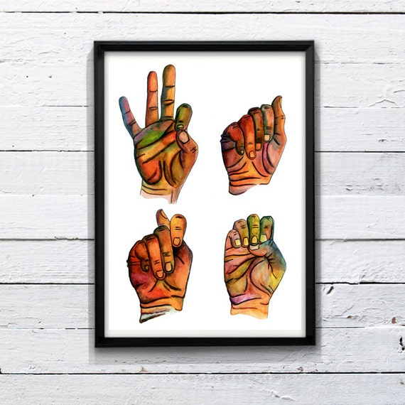 FATE - PRINT of an ORIGINAL Watercolor Painting on Paper - Poster - Illustration - Colorful