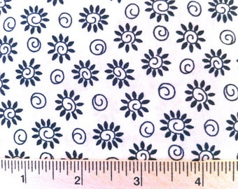 Floral Fabric - Black & White Scribble Fabric by Timeless Treasures c8197 - 1/2 yard