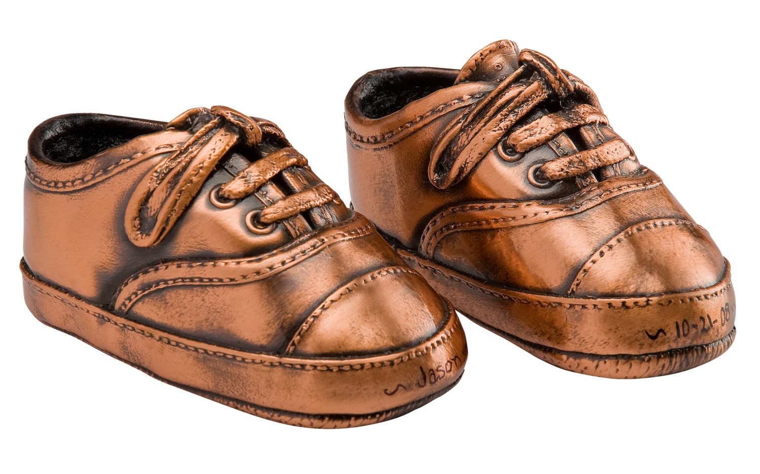 Pair Baby Shoes Bronzing