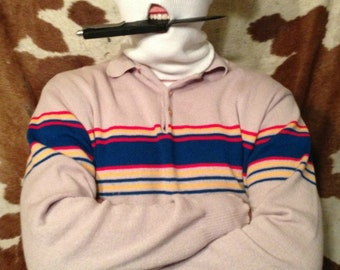 Men's 80s Primary Colored Sweater
