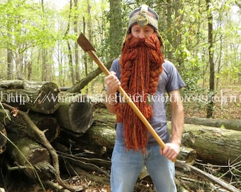 Instant Download - Gimli Inspired Helmet and Beard LOTR Crochet Pattern