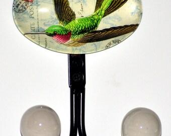 2 Hummingbird Wall Hooks