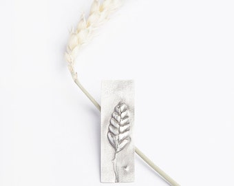 Oxidised Ear of Grain Pin Brooch made of Sterling Silver. Inspired by Nature. One of a Kind Autumn treasures Made in Latvia