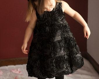 Flower Girl Dress, Toddler Dress, Baptism Dress, Girls Black Dress, Toddler Party Dress, Girls Ivory Dress, Communion Dress, Girls Red Dress