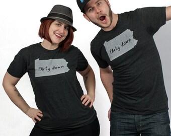 pennsylvania tshirt, pennsylvania graphic t, state pride tshirt, unisex, neutral, silkscreened tshirt, witty tshirt, men's gift, free ship