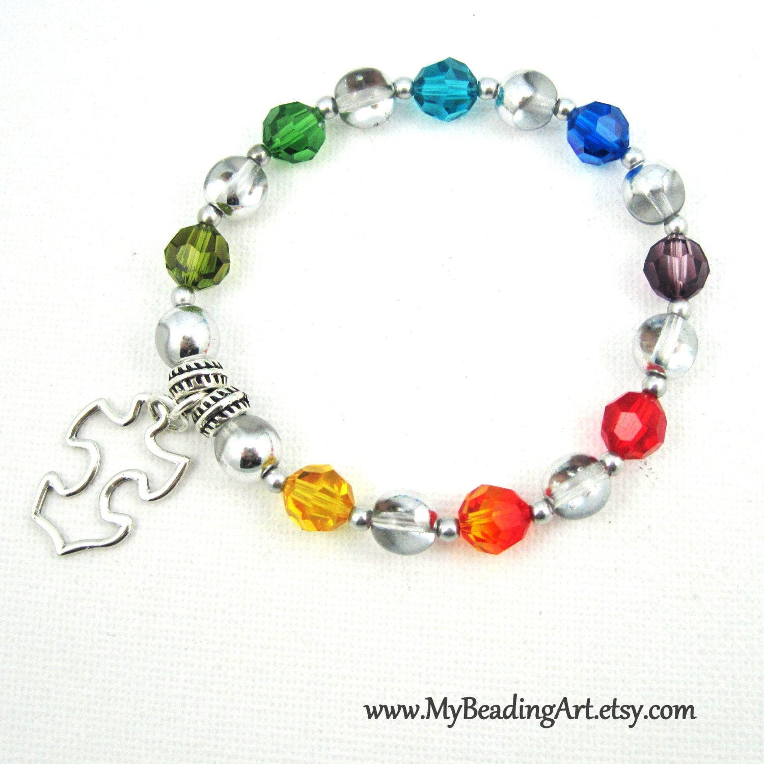 Autism bracelet autism jewelry charity bracelet by for Jewelry that supports a charity