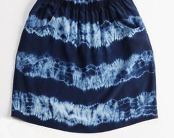 On Sale - Tide Skirt in hand dyed silk