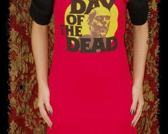 Day of the Dead shirt Horror movie mini dress zombie halloween clothing gothic alternative apparel dark style george romero altered tee