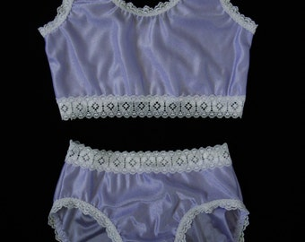 Girls Tricot Bikini Style Panties and Cropped Camisole