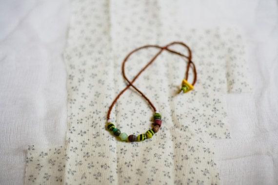 magnol-y'all collection: muscadine jelly - a matte glass beaded necklace