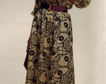 1990s Butterick 6646 UNCUT Vintage Sewing Pattern Misses Dress Size 10 - 12 - 14 - 16