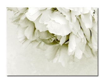 Wedding Art Black and White Flower Photography Dreamy Peony