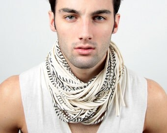 White Scarf, Trendy, Boyfriend, Man Necklace, Men Scarves, Festival Clothing, Mens Necklace, Hipster, Circle Scarf, Scarf Mens, Hippie