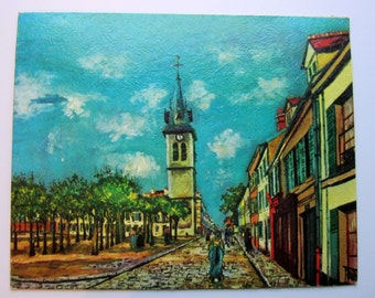 Vintage Litho Print La Banlieue International Gallery Utrillo