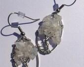 rainbow moonstone tree of life earrings