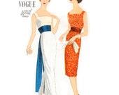 1950s Evening or Cocktail Dress Pattern Vogue Special Design 4977 with Obi Sash & Cummerbund Size 16 Bust 36 Uncut FF