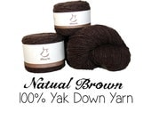 Special Order for Adrienne B: 100g Tibetan Yak Down Yarn - Natural Brown - 11001 - Bulky to Fall Medium